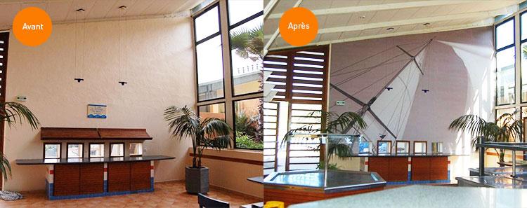 r nover l 39 int rieur de sa maison avec la toile tendue les plafonds tendus et le tissu mural. Black Bedroom Furniture Sets. Home Design Ideas