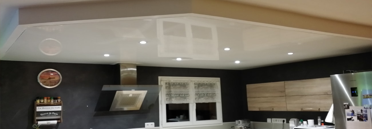 Plafond tendu en pvc ou en toile tendue for Plafond pvc tendu
